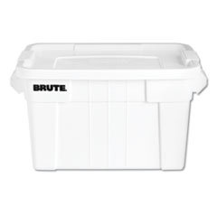 BRUTE Tote with Lid, 20 gal, 27.9w x 17.4d x 15.1h, White