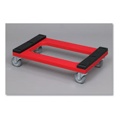 "Dolly Padded Deck, 1000 lbs, 18.4"" x 7.9"" x 31"", Red"