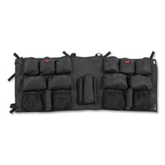 Rubbermaid  Commercialslim Jim Caddy Bag, 19 Compartments, 10.25W X 19H, Black