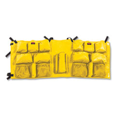 Rubbermaid  Commercialslim Jim Caddy Bag, 19 Compartments, 10.25W X 19H, Yellow