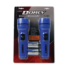 LED Flashlight Pack, 1 D Battery (Included), Blue, 2/Pack