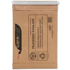 Caremail Rugged Padded Mailer, Side Seam, 14 x 18 3/4, Light Brown, 25/Carton