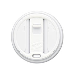 Reclosable Lids for 12 & 16oz Hot Cups, White, 100 Lids/Pack, 10 Packs/Carton