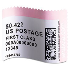 LabelWriter Postage Stamp Labels, 1-5/8 x 1-1/4, White, 200/RL