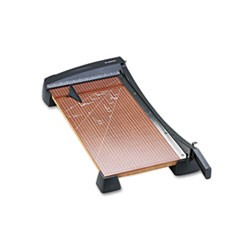 "Heavy-Duty Wood Base Guillotine Trimmer, 15 Sheets, 12"" x 24"""