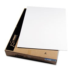 CFC-Free Polystyrene Foam Board, 30 x 40, White Surface and Core, 25/Carton