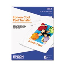 EPSON IRON-ON TRANSFER - 10 SHTS 8.5 X 11