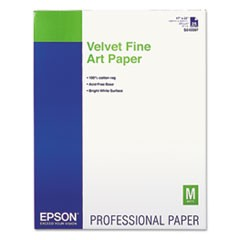 Velvet Fine Art Paper, 17 x 22, White, 25 Sheets/Pack