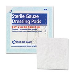 "SmartCompliance Gauze Pads, 2"" x 2"", 5/Pack"