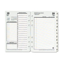 Original Dated Daily Planner Refill, January-December, 4 1/4 x 6 3/4, 2019
