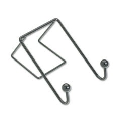 Fellowes Partition Additions Wire Double-Garment Hook, 4 X 6, Black