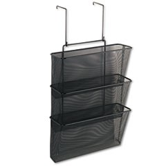 Mesh Partition Additions Three-File Pocket Organizer, 12 5/8 x 16 3/4, Black