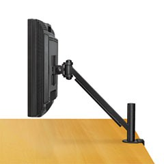 Desk-Mount Arm for Flat Panel Monitor, 4.75w x 14.5d x 24h, Black