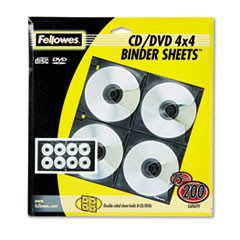 Two-Sided CD/DVD Refill Sheets for Three-Ring Binder, 25/Pack