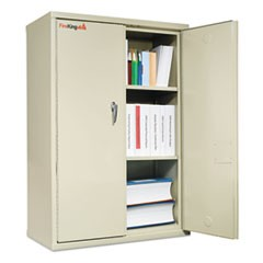 Storage Cabinet, 36w x 19-1/4d x 44h, UL Listed 350° for Fire, Parchment