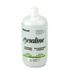 Fendall Eyesaline Eyewash Bottle Refill, 32oz Bottle, 12/Carton