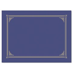 Certificate/Document Cover, 12 1/2 x 9 3/4, Metallic Blue, 6/Pack