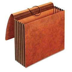 Heavy-Duty Expanding Wallets, Straight Cut, 1 Pocket, Letter, Brown