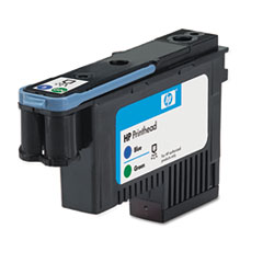 PRINTHEAD,HP 70, BLUE/GN