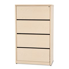 10500 Series Four-Drawer Lateral File, 36w x 20d x 59-1/8h, Natural Maple