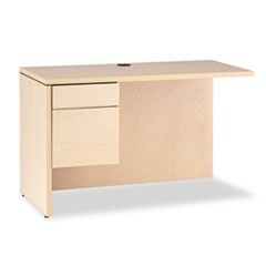 10500 Series L Workstation Return, 3/4 Height Left Ped, 48 x 24, Natural Maple