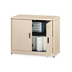10700 Series Locking Storage Cabinet, 36w x 20d x 29 1/2h, Natural Maple