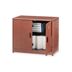 10700 Series Locking Storage Cabinet, 36w x 20d x 29 1/2h, Bourbon Cherry
