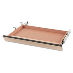 Laminate Angled Center Drawer, 26w x 15.38d x 2.5h, Natural Maple