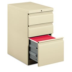 Efficiencies Mobile Pedestal File with One File/Two Box Drawers, 22-7/8d, Putty