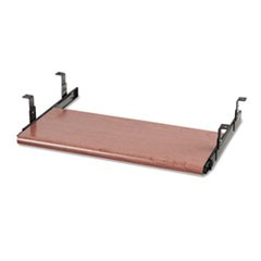 Slide-Away Keyboard Platform, Laminate, 21-1/2w x 10d, Bourbon Cherry