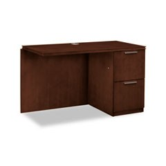 Arrive Right Return For Left Pedestal Desk, 48w x 24d x 29-1/2h, Shaker Cherry