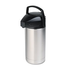 Commercial Grade Jumbo Airpot, 3.5L, Stainless Steel/Black