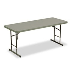 Adjustable Height Tables, 72w x 30d x 25-35h, Charcoal