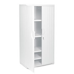 OfficeWorks Resin Storage Cabinet, 36w x 22d x 72h, Platinum