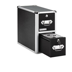 Vaultz 2-Drawer Cd File Cabinet, Holds 330 Folders Or 120 Slim/60 Standard Cases, Black