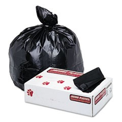 Low-Density Commercial Can Liner, 60gal, 1.7mil, 38 x 58, Black, 100/Carton