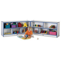 Rainbow Accents Fold-n-Lock Storage Unit, 48w x 15d x 24-1/2h, Blue/Gray