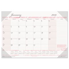 Recycled Breast Cancer Awareness Monthly Desk Pad Calendar, 18 1/2 x 13, 2019