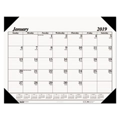 Recycled One-Color Refillable Monthly Desk Pad Calendar, 22 x 17, 2019