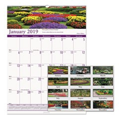 Recycled Gardens of the World Monthly Wall Calendar, 12 x 12, 2019
