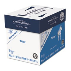 Tidal Print Paper Express Pack, 92 Bright, 20lb, 8.5 x 11, White, 500 Sheets/Ream, 5 Reams/Carton