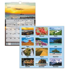 Scenic Monthly Wall Calendar, 12 x 17, 2019