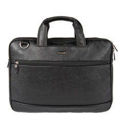 "Harold Slim Briefcase, 11"" x 3"" x 11.5"", Synthetic Leather, Black"