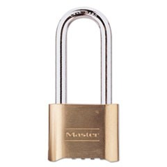 "Resettable Combination Padlock, Brass, 2"" Wide, Brass Color, 6/Box"
