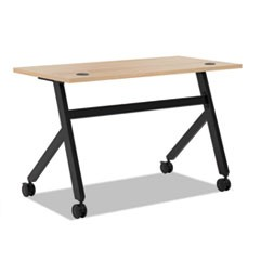 Multipurpose Table Fixed Base Table, 48w x 24d x 29 3/8h, Wheat