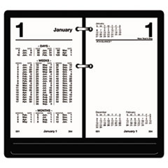 Financial Desk Calendar Refill, 3 1/2 x 6, White, 2019