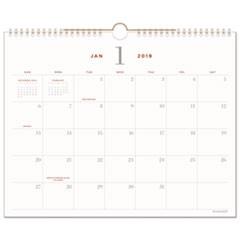 Signature Collection Wall Calendar, 15 x 12, 2019