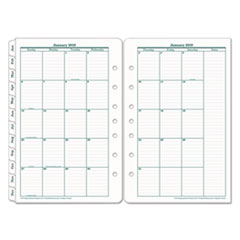 Original Dated Monthly Planner Refill, January-December, 5 1/2 x 8 1/2, 2019