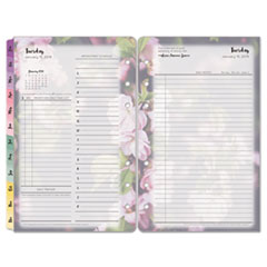 Blooms Dated Daily Planner Refill, January-December, 4 3/4 x 6 3/4, 2019