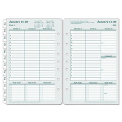 Original Dated Weekly/Monthly Planner Refill, Jan.-Dec., 5 1/2 x 8 1/2, 2019